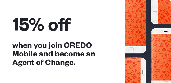 15% off when you join CREDO Mobile and become an Agent of Change